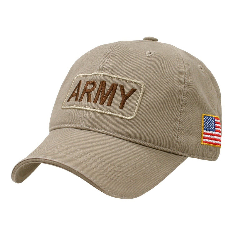Amazon.com  United States US Army Tan Polo Style Baseball Cap USA Flag Cap  Hat  Everything Else bb57f07eab9