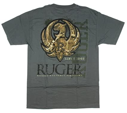 23ed63f64 Special Edition Ruger Camo Stitch Adult t-shirt, print front and back-Medium