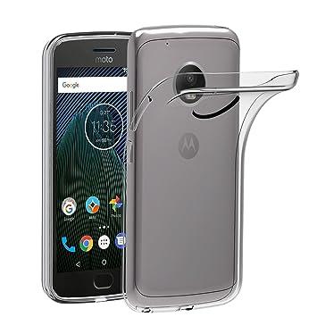 ivoler Funda Carcasa Gel Transparente para Lenovo/Motorola Moto G5 Plus, Ultra Fina 0,33mm, Silicona TPU de Alta Resistencia y Flexibilidad