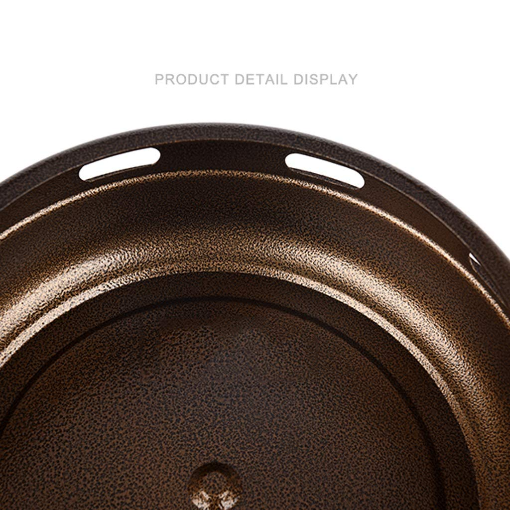 MEI XU Barbecue Grill BBQ Grill - Korean Carbon Barbecue Round Barbecue Stove Korean Charcoal Baking Tray Commercial Charcoal fire Barbecue Home Barbecue Pot (Edition : A) by MEI XU (Image #3)