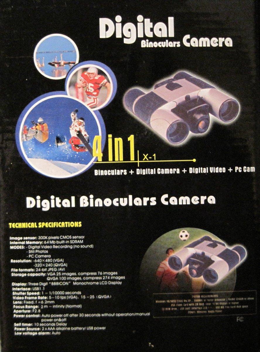 デジタル双眼鏡カメラ、4 in 1、双眼鏡/デジタルカメラ/デジタルビデオ/ PC Cam B072JQHZYV