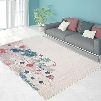 Teppich Modern Designer Wohnzimmer Pastellfarben Inspiration Odeur Blumen  Multi, Größe In Cm:80 X