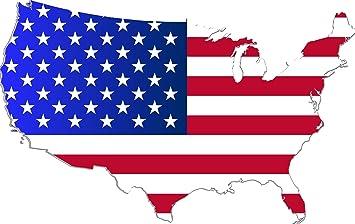 Aufkleber Landkarte Usa Sticker Autoaufkleber