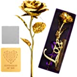 ProCIV Gold Roses, 24K Gold Foil Decoration Artificial Rose Flowers in Gift Box, Best Gift Mother's Day, Valentine's Day, Wedding Day, Birthday, Christmas, Thanksgiving, Home Decor