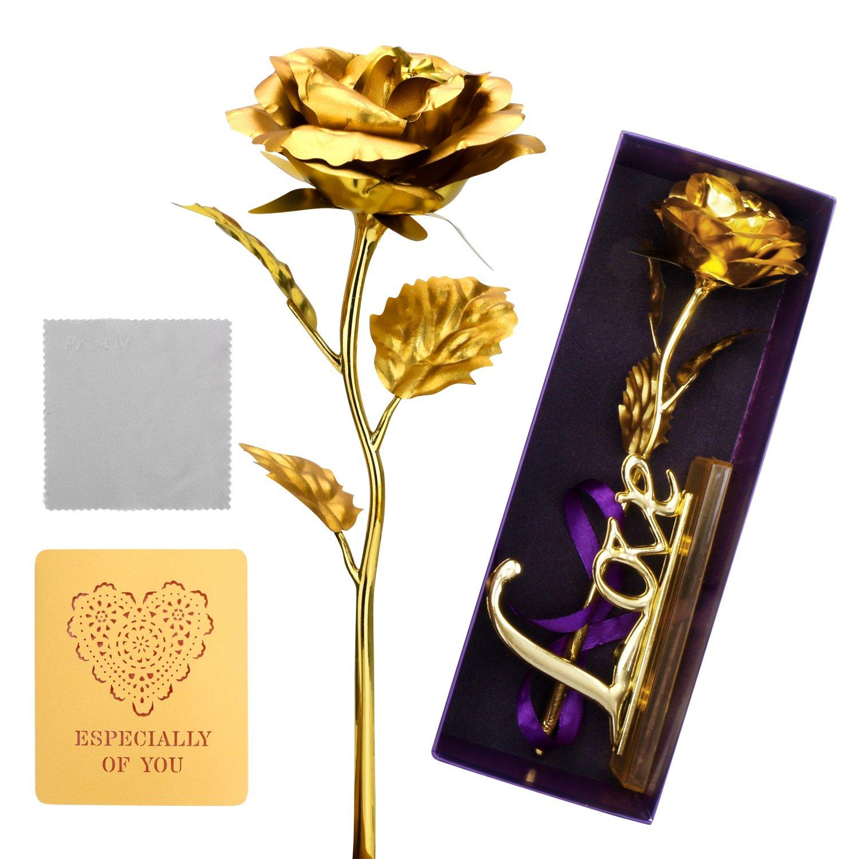 Amazon Prociv Gold Roses 24k Gold Foil Decoration Artificial