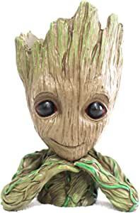 JIAMO Groot Plant Pots,Tree Man Groot Flowerpots,Multipurpose Creative Pen Holders,Car Decoration,Tabletop Decorations, Funny And Usefull Groot,Creative Gifts for Kids/Boyfriend/Girlfriend (Two hands)