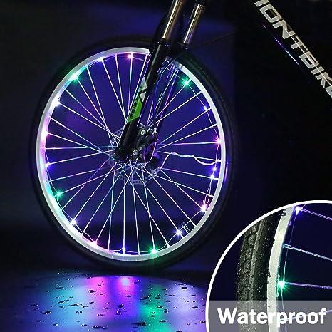 Accmor 2 Pack de Luces LED para Rueda de Bicicleta, Seguridad ...