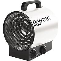 DAHTEC - H322 - Heizlüfter kW Watt - 2 Heizstufen, 1 Ventilatorstufe - Elektrisch Tragbar Mobile Portable 230V - Elektroheizgebläsen für Haus, Wohnung, Büro, Werkstatt, Camping, Garage