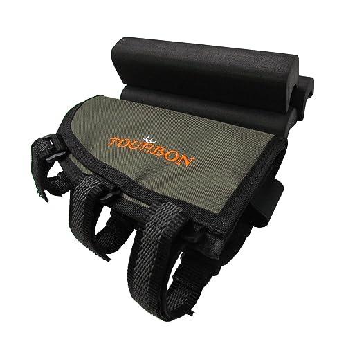 Tourbon Adjustable Height Buttstock Rifle Cartridge Holder Cheek Rest Pouch