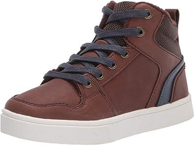 Amazon Essentials Kids' Lace Up Sneaker, Brown, 6 Medium US Big Kid