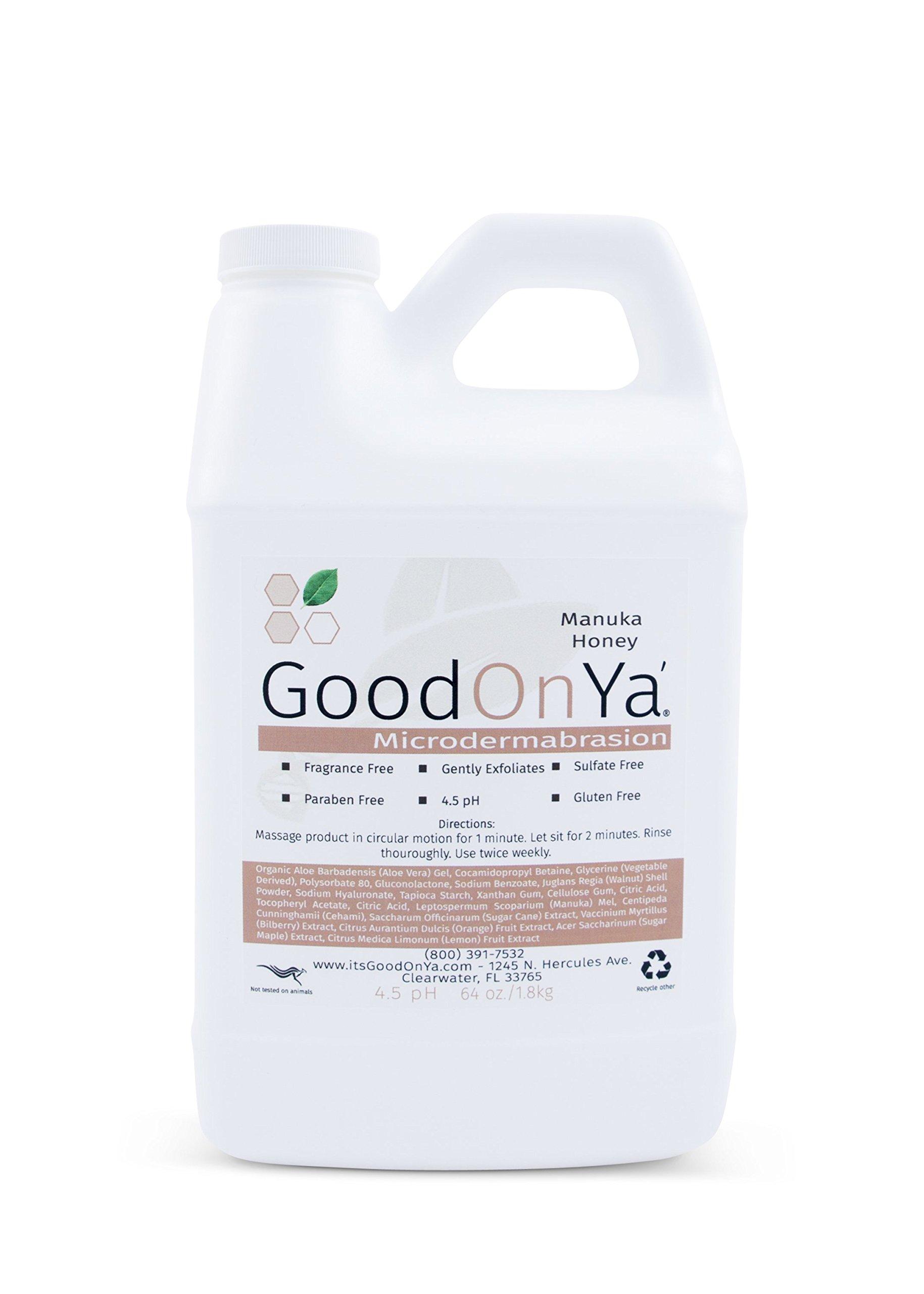 Exfoliating Scrub Microdermabrasion Cleanser with Manuka Honey by GoodOnYa Natural & Organic. Fragrance Free, Paraben Free. Keep Away Blackheads (64 oz)