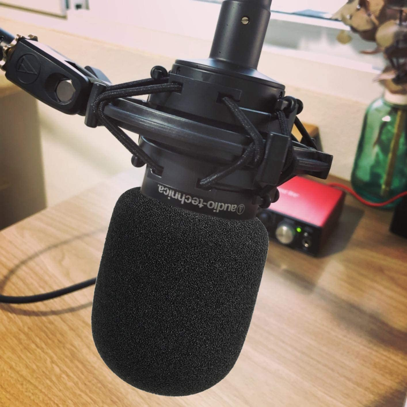 AT2035 Pop Filter Foam Cover Mic Windscreen Wind Cover Customized for Audio Technica AT2035 Condenser Microphone to Blocks Out Plosives