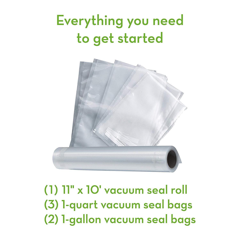 FoodSaver V2244 Vacuum Sealer Machine for Food Preservation with Bags and Rolls Starter Kit | #1 Vacuum Sealer System | Compact & Easy Clean | UL Safety Certified | Black - 2 Pack by FoodSaver (Image #6)