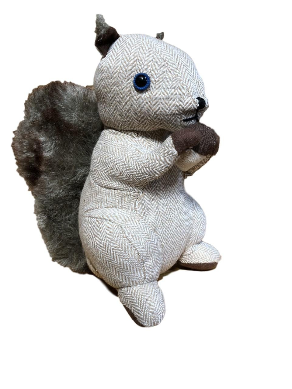 Brown Plush Squirrel with Nut Durable Door Stopper 12''