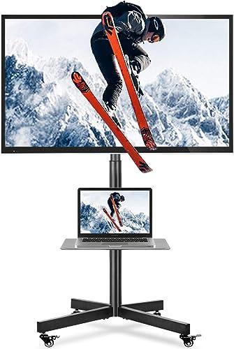 5Rcom Mobile TV Cart TV Floor Stand