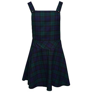 28b23c76ec Ladies Womens Tartan Check Pinafore Dungarees Buttoned Mini Skirt Dress UK  Sizes 8 10 12 14: Amazon.co.uk: Clothing