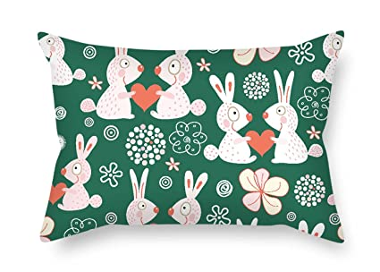 Groovy Amazon Com Artsdesigningshop Rabbit Throw Pillow Covers 20 Gmtry Best Dining Table And Chair Ideas Images Gmtryco