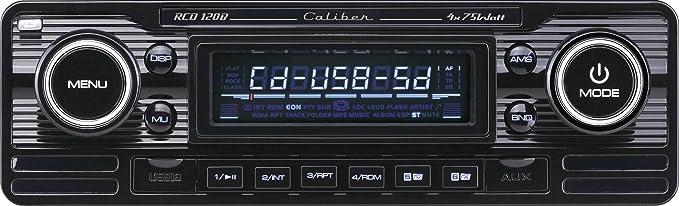 Caliber Rcd120b Retrodesign Autoradio Mit Cd Schwarz Elektronik