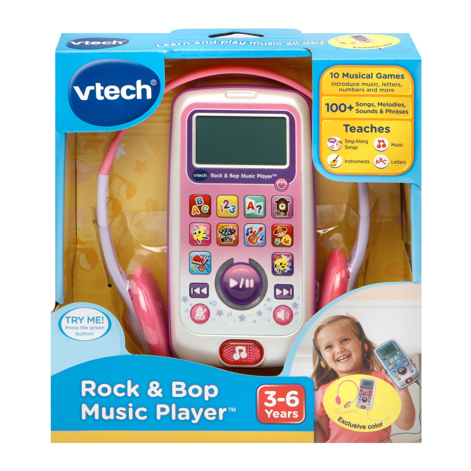 VTech Rock and Bop Music Player Amazon Exclusive, Pink by VTech (Image #6)
