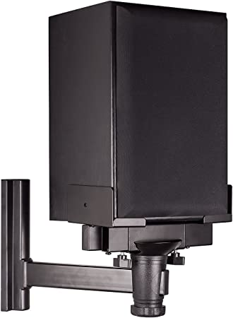 Amazon Com Mount It Speaker Wall Mount Universal Side Clamping Bookshelf Speaker Mounting Bracket Large Or Small Speakers 1 Mount 66 Lbs Capacity Black Electronics