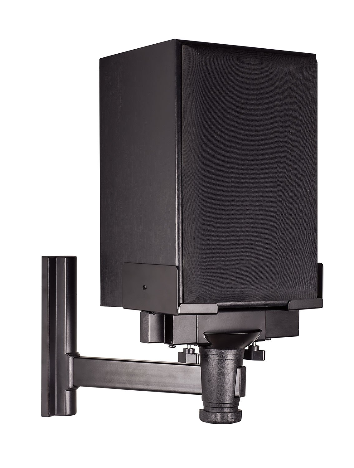 Mount-It! Speaker Wall Mount, Universal Side Clamping Bookshelf Speaker Mounting Bracket, Large or Small Speakers, 1 Mount, 66 Lbs Capacity, Black MI-SB35
