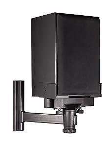 Mount-It! Speaker Wall Mount, Universal Side Clamping Bookshelf Speaker Mounting Bracket, Large or Small Speakers, 1 Mount, 66 Lbs Capacity, Black