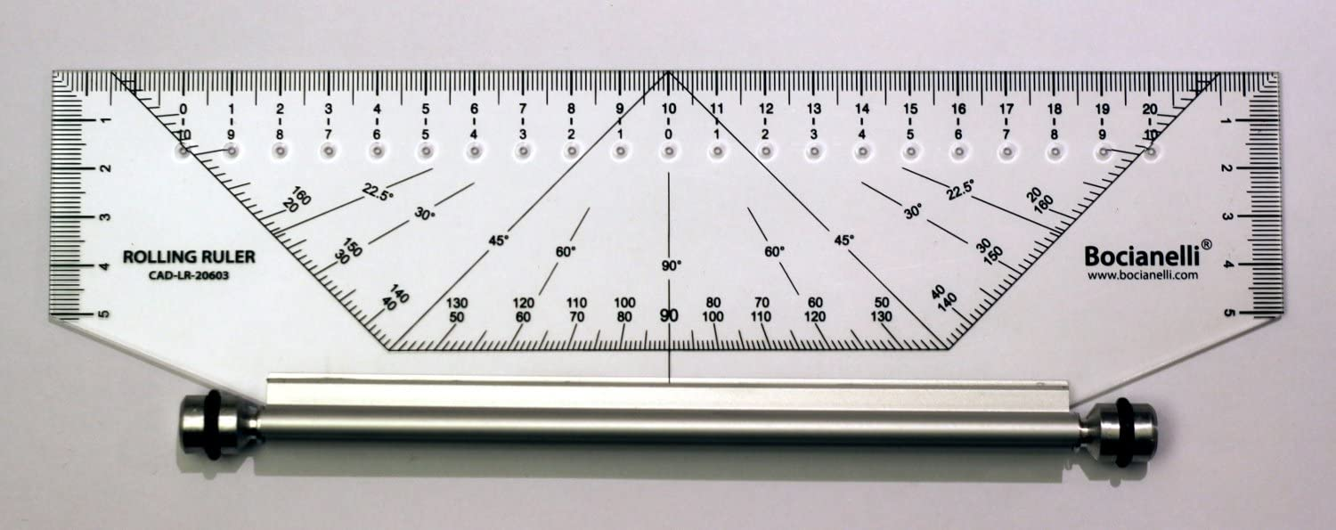 30cm Professional Metric Parallel Rolling Ruler Rule Drawing Glider Useful UK Ec