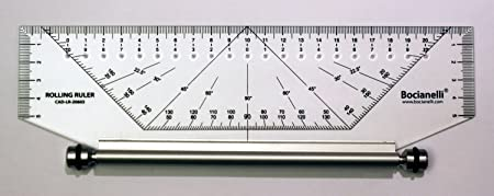 25cm 250mm Professional Metric Parallel Rolling Ruler: Amazon.es: Electrónica
