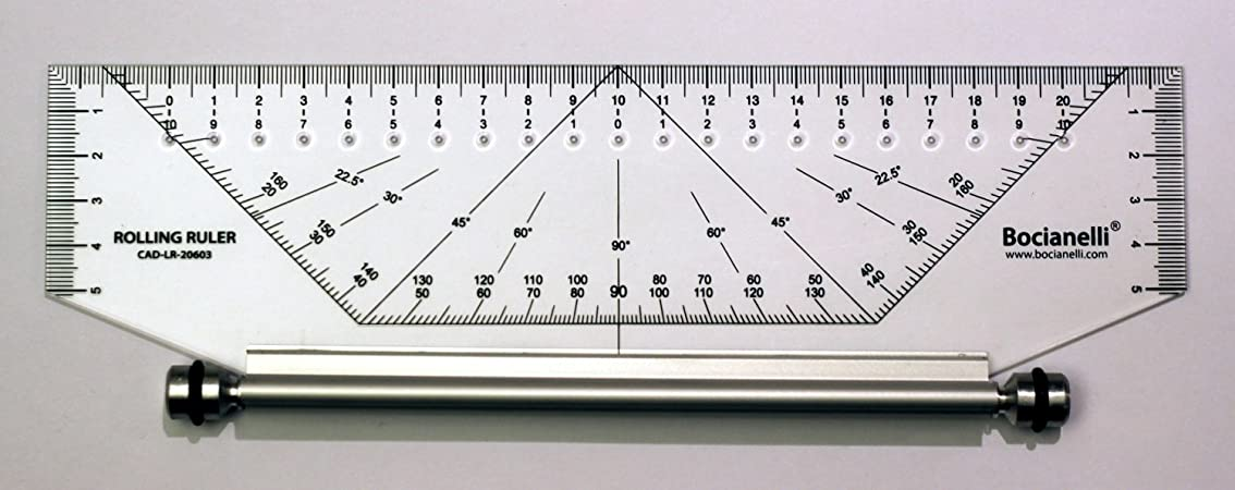 25cm 250mm Professional Metric Parallel Rolling Ruler - Technical Drawing Drafting Art Craft School Office