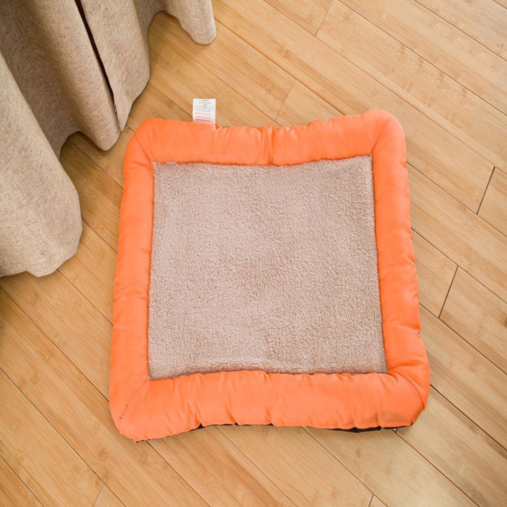 Lozse Pet Beds Seat cushion Comfort Easy Square Pet Litter Pet mat Beige for Dogs and Cats Sleeping Cushion