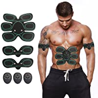iado Muscle Toner, Abs Trainer EMS Abdominal Toning Belt Fit for Body Arm Abdomen Exercises Electrical Muscle Stimulation Abs Stimulator at Home or Gym