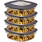 Rubbermaid (8-Piece) 3-Cup Plastic Food Storage Container Set BPA-Free Airtight Lids Meal Prep Bowls