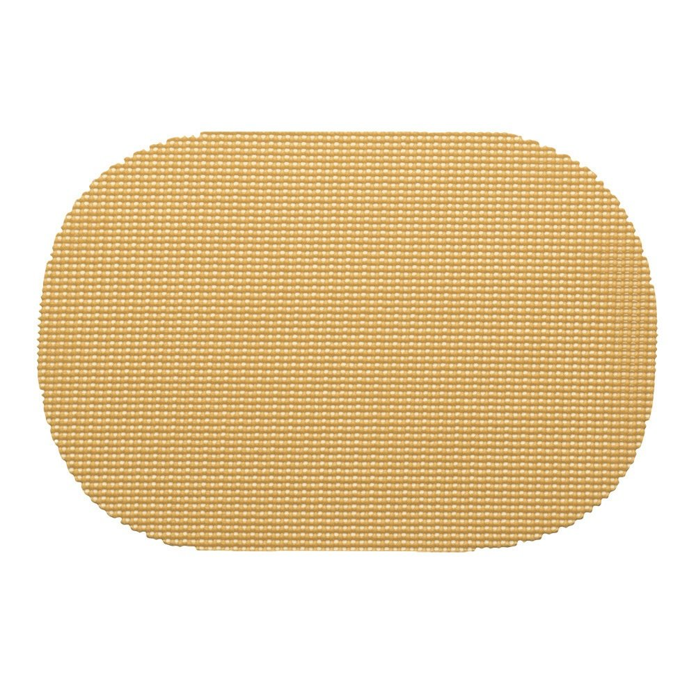12 Piece Camel Placemats,(Set of 12), Machine Washable, Solid Pattern, Oval Shape, Contemporary And Traditional Style, Perfect For Everyday Entertaining, Season Or Holiday Lace Material, Mocha