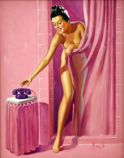 Amazon.com: Pin-Up Girl Wall Decal Poster Sticker - Brunette in ...
