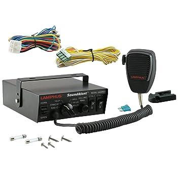 LAMPHUS SoundAlert - Micrófono de mano (100 W) con 5 modos de alerta de