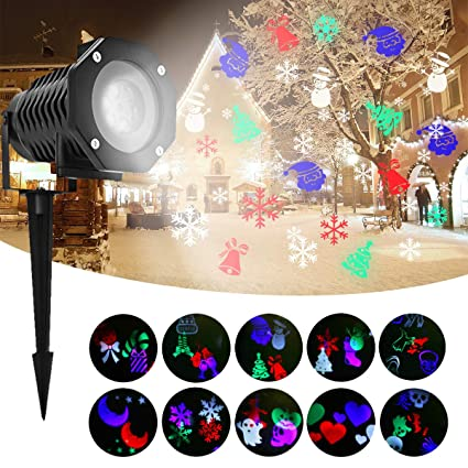 Access Control Kits Rotate Laser Light Led Christmas Decoration Outdoor Landscape Lawn Lamp Us Plug Red & Green L
