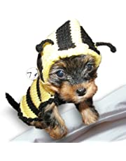 Bee Dog Sweater Dog costume coat Puppy Pet clothes Yorkie Chihuahua Small dogs Different sizes (XXXS)