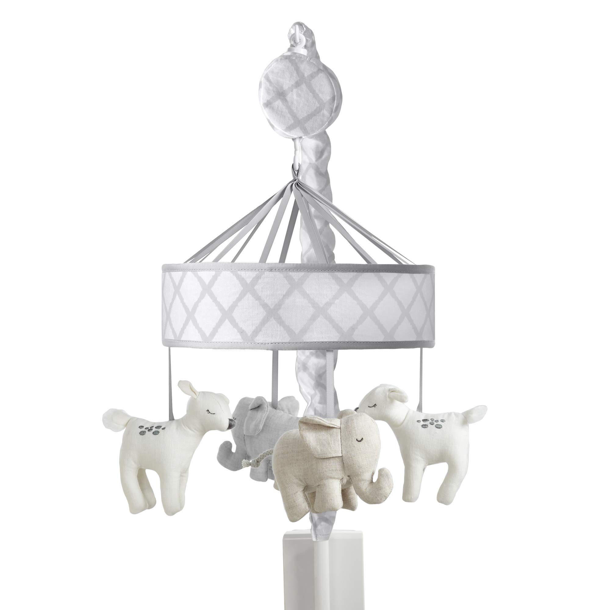 Just Born Keepsake Musical Mobile, Grey Elephant and Deer, One Size