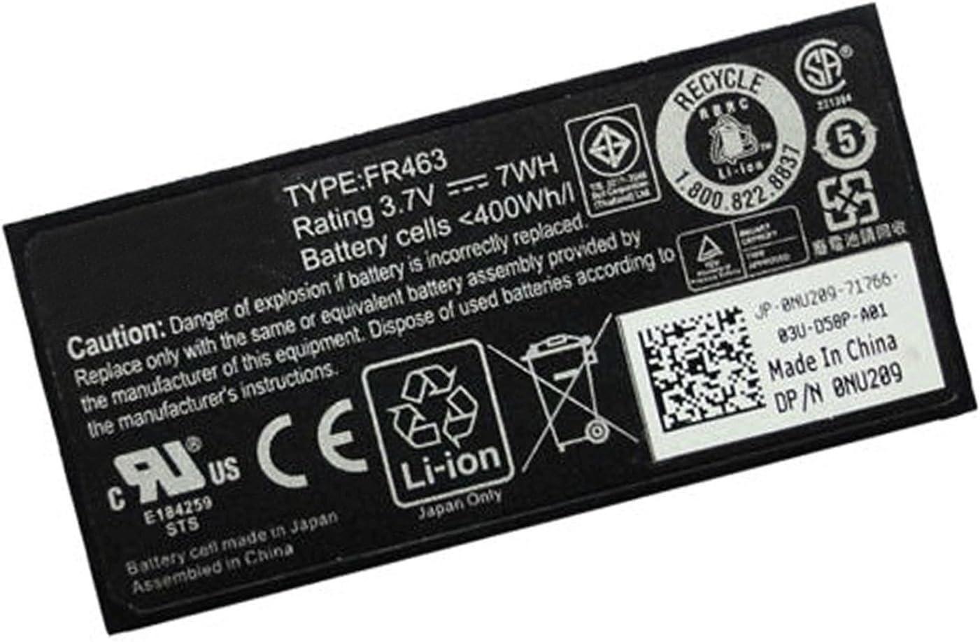 Dentsing FR463 Battery for Dell Poweredge Perc 5i 6i PowerEdge 1950 2900 2950 P9110 NU209 U8735 XJ54 312-0448 / 0NU209