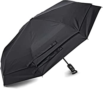 Samsonite Windguard Auto Open/Close Umbrella, Black (Black) - 51701-1041