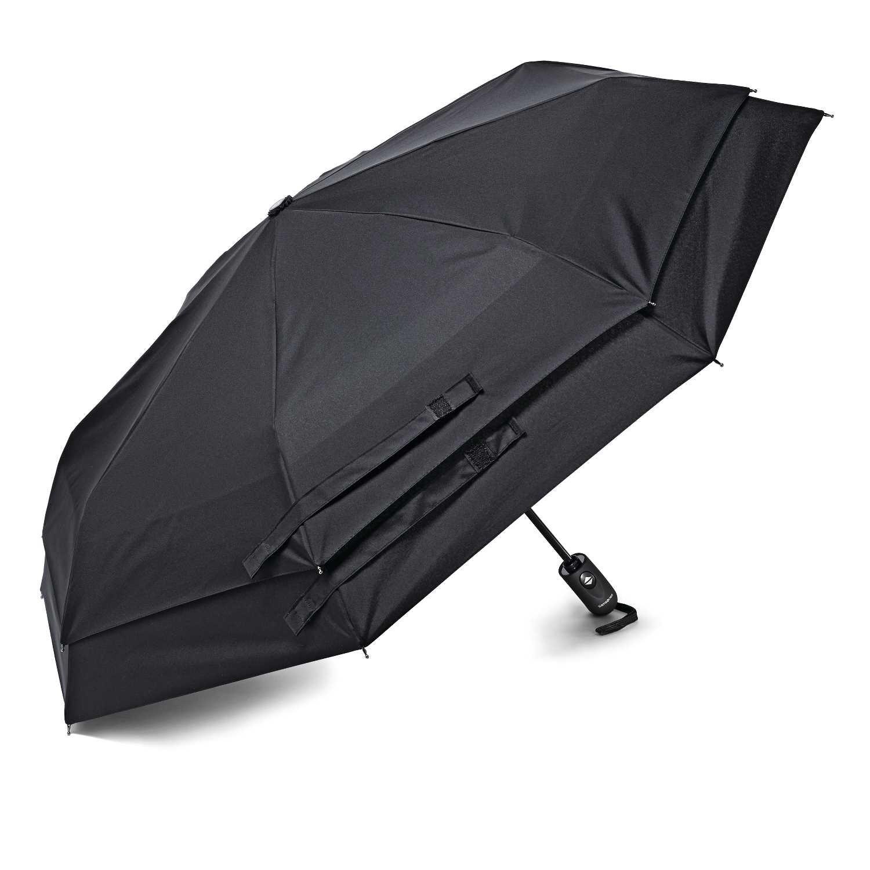 Samsonite Windguard Auto Open/Close Umbrella, Black, One Size