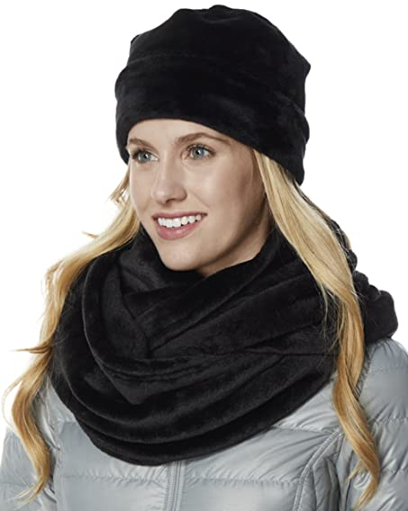 fashion riah infinity scarf black products faux fur