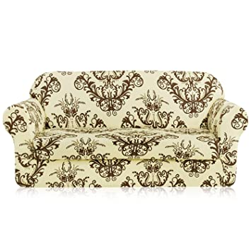 Amazon Com Tikami 2 Piece Sofa Slipcovers Printed Floral Stretch