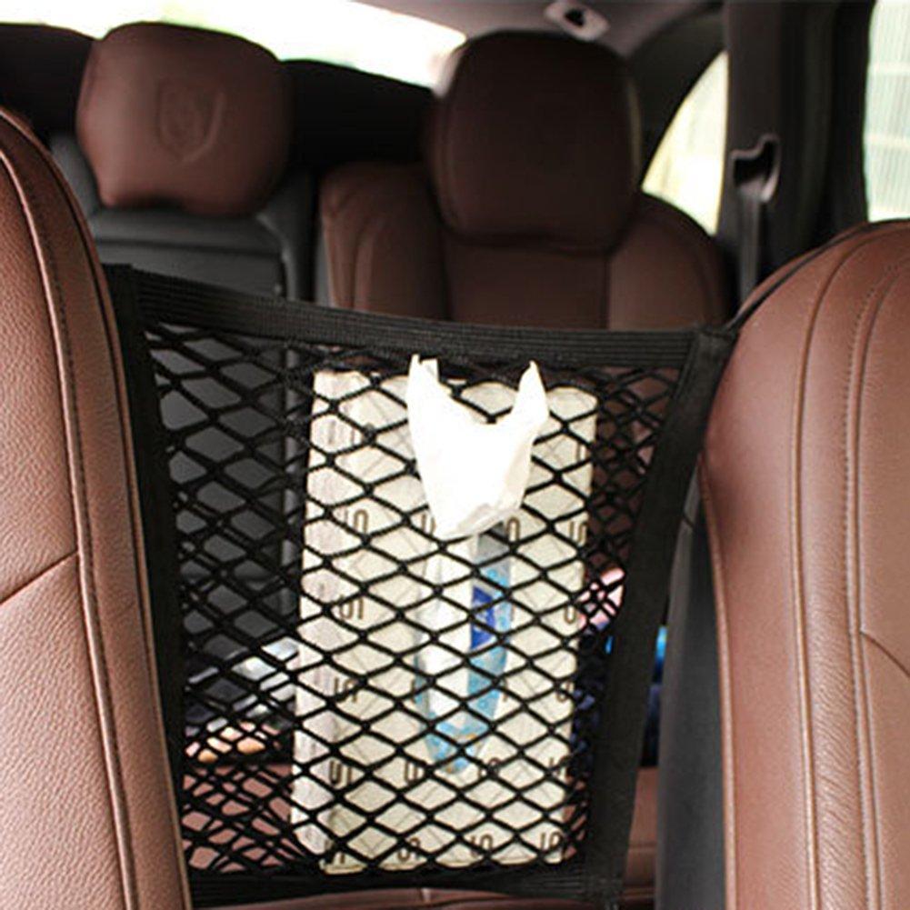 Car Front Seat Storage Net Staubbeutel Universal 2/Schicht Auto Net Storage Mesh Organizer Stretch feines Cargo Netz f/ür Geldb/örse Tasche Handy Pets Hunde Kinder St/ören Stopper