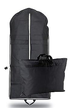 OWLMO - Kleidersack Anzugtasche Kleiderhülle   Tragegriffe   faltbar   durchdachter Kleidersack/Anzughülle 110x63cm   Hemd un