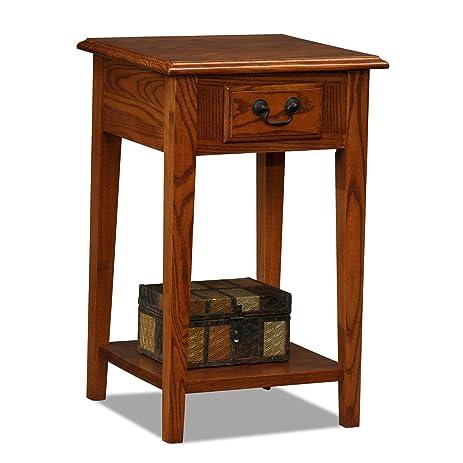 Amazoncom Leick Shaker Square End Table Medium Oak Kitchen