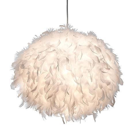 XXL lámpara colgante LED Ducky Diámetro 60 cm con plumas ...