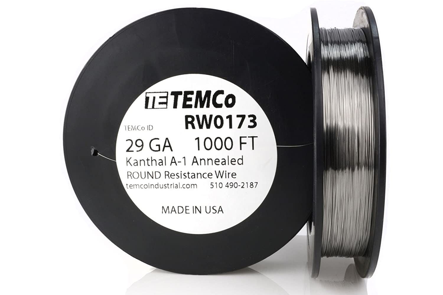 TEMCo Kanthal A1 wire 29 Gauge 1000 Ft Resistance AWG A-1 ga ...