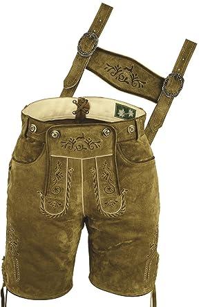 Lederhosen Costumes- Pantalon en cuir Homme Femme- Oktoberfest Costume  Homme Femme- Court Pantalon 1b35b5c3a9f