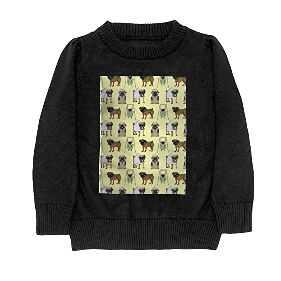 Amazon.com: DuoMar Youth Sweater Cute Lovly Pug Swing Winter Warm ...